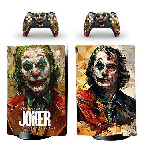 Dreamteam PS5 Digital Edition Joker PS5 Skin Sticker Decal Cover for PlayStation 5 Console and 2 Controllers PS5 Skin Sticker Vinyl