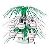 Beistle Baseball Cascade Centerpiece, 71/2-Inch, Green/Silver/White/Red (2-Pack)