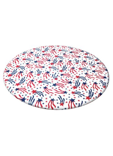 UPC 042887934108, Patterned Fitted Vinyl Tablecloths, Color Stars And Stripes