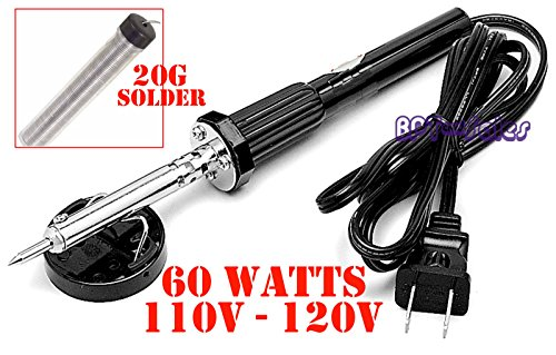 60W IRON SOLDERING GUN Electric Welding 110v-120v + 20G Solder Tube Home Shop - Diy Evie Costume Descendants