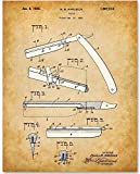 Barber's Razor - 11x14 Unframed Patent Print - Makes a Great Gift Under $15 for Barbers and Barber Shop Decor