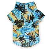 Casual Canine Cotton Aloha Camp Dog Shirt, Large, 20-Inch, Blue, My Pet Supplies