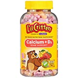 L'il Critters Kids Calcium Gummy Bears with Vitamin D3 Supplement, 150 Ct Gummies For Sale