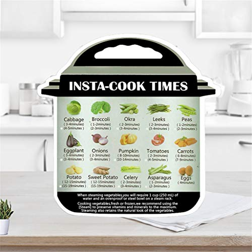️ Yu2d ❤️❤️ ️3Pcs Cooking Schedule Magnetic Cheat Sheet Food Cooking for Instant Pot -