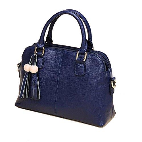 Dark JUNBOSI Dimensione Borsa Borsa Dark Color blue matura size a a blue borsa qualità multipli a donna di alta Elegante tracolla in pelle tracolla scomparti One SSq1drw