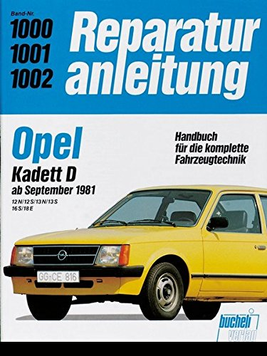 Opel Kadett D ab September 1981. 12 N / 12 S / 13 N for sale  Delivered anywhere in USA