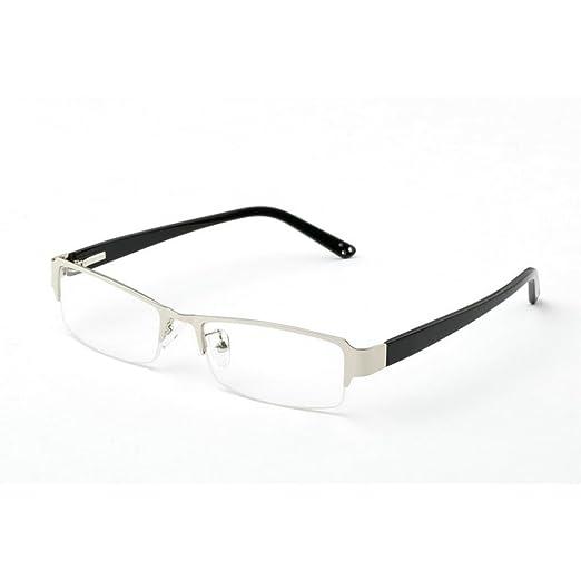 4be585402a18 MINCL/Vintage Rectangular TR90 Frames Eyeglasses -yhl (silver, plain)