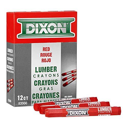 (DIXON Industrial Lumber Marking Crayons, 4.5