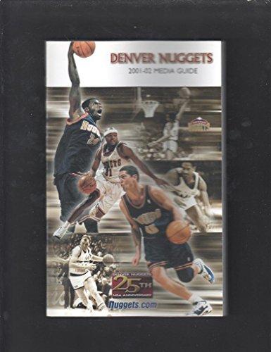 DENVER NUGGETS 2001-02 MEDIA GUIDE 25TH ANNIVERSARY ISSEL DAVID THOMPSON (02 Nugget)