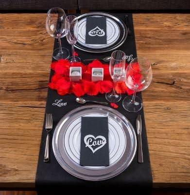 LOVERSpack Romantic Pack Angus Cristal - con Este Pack romántico podrás Decorar tu Mesa y sorprender a tu Pareja con una Cena romántica en casa o en un Hotel. ¡Regala Momentos Especiales!: