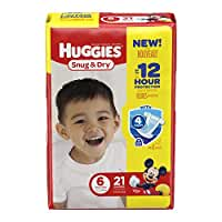 HUGGIES Snug & Dry Diapers, Size 6, 21 Count (Packaging May Vary)