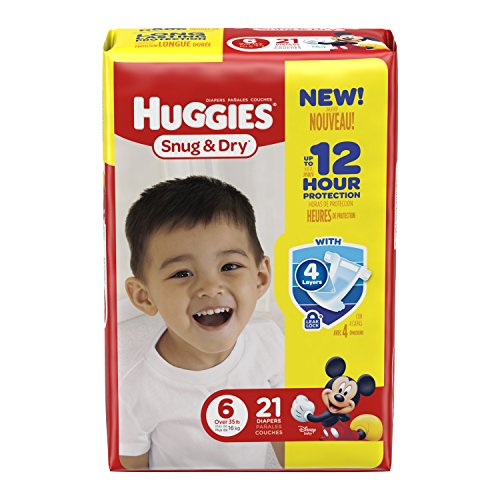 HUGGIES Snug & Dry Diapers, Size 6, 21 Count