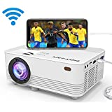 [WiFi Projector] POYANK Latest Upgraded WiFi LED Mini Projector, WiFi Directly Connect with iPhone X,8,7,6,5/iPad/Mac/Google/Samsung,Huawei,Xiaomi & Android Device (1080p Supported)