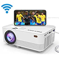 [WIFI Supported] POYANK 2000Lumens LED Mini Projector, WIFI Directly Connect with iPhone X,8,7,6,5/iPad/Mac/Google/Samsung,Huawei,Xiaomi & Android Device (1080p Supported)