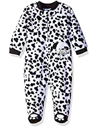 Baby Boys'' Microfleece Zip Front Coverall With Applique