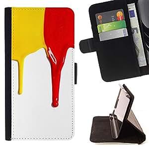 Momo Phone Case / Flip Funda de Cuero Case Cover - Amarillo y rojo;;;;;;;; - HTC One A9