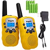 Favorest Rechargeable Walkie Talkies for Kids 2- Mile Long Range 22 Channel Kids Walkie Talkies with Rechargeable Batteries and Charger, Toys 2 Way Radios Gifts for Boys and Girls (Yellow)
