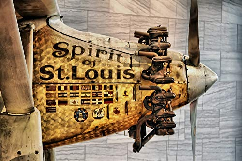 Home Comforts Peel-n-Stick Poster of Lindberg Aviation Smithsonian Museum Dc Vivid Imagery Poster 24 x 16 Adhesive Sticker Poster Print ()