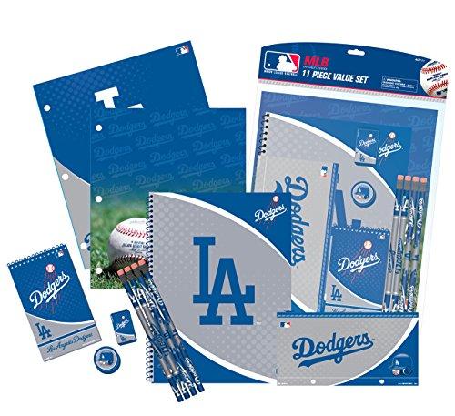 Los Dodgers Pencil Angeles (National Design MLB 11-Piece Stationery Set (11056-GCU))