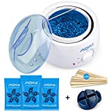 Home Waxing Kit,AVAII Painless Hair Removal Waxing Warmer Kit for Full Body Brazilian Bikini Face Eyebrows Legs Underarm with Hard Wax Beans (3.5oz/bags) & 20 Wax Applicator Sticks