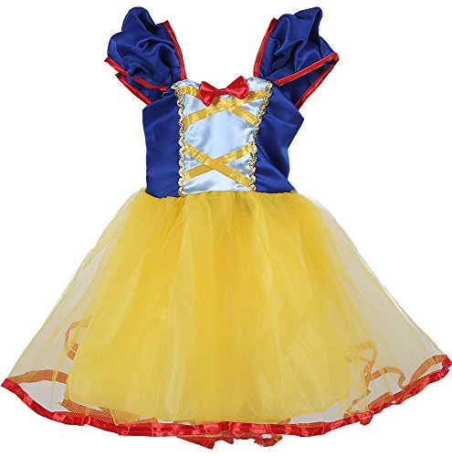 Tutu Dreams Baby Girls Snow White Costume Dress For Birthday Party (6/12m, (Snow White Baby Girl Costume)