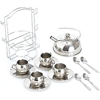 Toys & Hobbies Stainless Steel Cookware Kitchen Cooking Toys Varied Pots Pans Utensil Set Kitchenware Tableware Kids Pretend Play Toys Gifts Utmost In Convenience