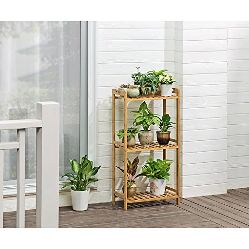JHZWHJ Wooden Flower Rack Indoor Plant Stand Wooden Plant Flower Display Stand Wood Pot Shelf Storage Rack Outdoor (Size : B50cm) by JHZWHJ