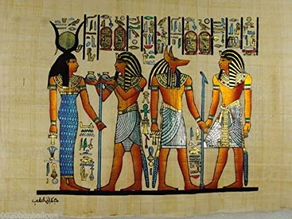 Egyptian Art And Papyrus Paper And Drawn Or Painted