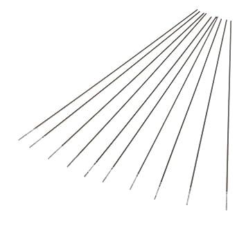 Homyl 10 Unids Electrodos de Tungsteno Puro Tig Argon Soldadura Varilla Circonio Instalación Eléctrica - Plata, Tipo 1: Amazon.es: Bricolaje y herramientas