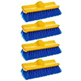 Rubbermaid Commercial Floor Scrub Brush, 10'', Blue, FG633700BLUE (4 Brushes)