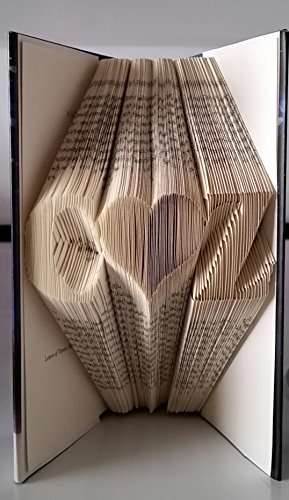 Custom hand made book fold sculpture, initials with heart. Perfect unique gift for any - Tracking Economy Mail