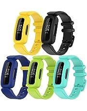 (5-pack) Chofit vervangende riemen compatibel met Fitbit Ace 3 riem, zachte siliconen sport verstelbare flexibele polsbandjes armband voor kinderen 6+ voor Ace 3/ Inspire 2 Activity Tracker