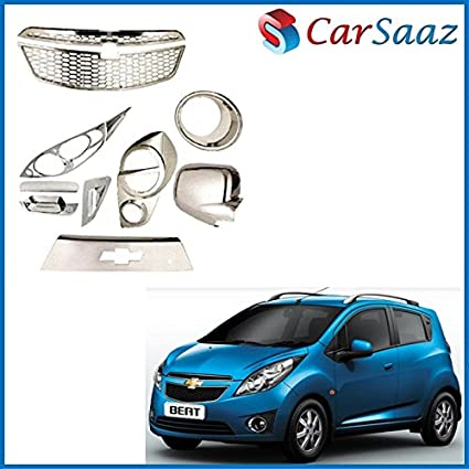Carsaaz Chrome Accessories Combo/Pack for Chevrolet Beat (Type-1 ...