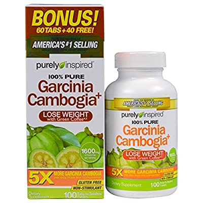 Purely Inspired, Garcinia Cambogia+, 1,600 mg, 100 Easy-To-Swallow Tablets