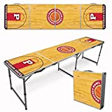Infusion Custom 8-Foot (Regulation Size) Premium Folding Beer Pong Travel Table - Basketball Court
