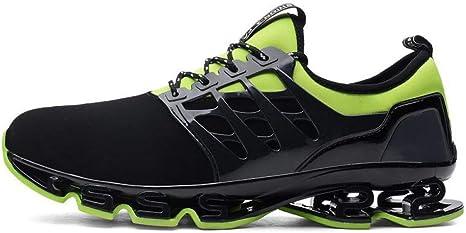 WDDGPZYDX Calzado Deportivo Tallas Grandes Zapatillas De Deporte De Moda para Hombres Zapatillas De Deporte Transpirables para Hombre Verano Unisex 36-48 con Cordones,Verde,7: Amazon.es: Deportes y aire libre