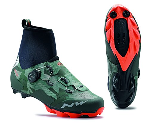 NORTHWAVE RAPTOR GTX Rennrad Winterschuhe CAMO/LOBSTER ORANGE