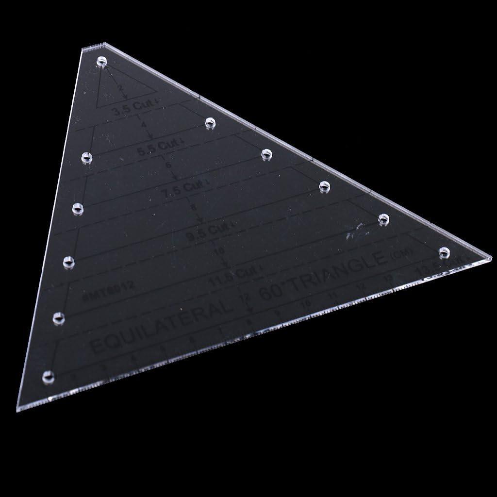 Amuzocity Regla Quilting Equil/átero Forma de Diamante De 45 Grados Forma De Hex/ágono 60 Grados Tri/ángulo