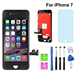 for iPhone 7 Screen Replacement Black 4.7' LCD Display Touch Screen Digitizer Assembly Set with Free Repair Tools (iPhone 7, Black)