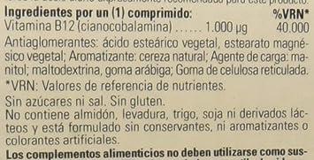 Solgar Vitamina B12, Comprimidos Masticables, Reduce el Cansancio, Ayuda a Liberar la Energía de los Alimentos, Activa la Vitalidad, Apto para ...