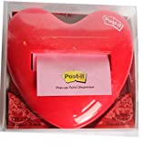 Post-It Pop-Up Notes 3'' x 3'' Red Heart Dispenser
