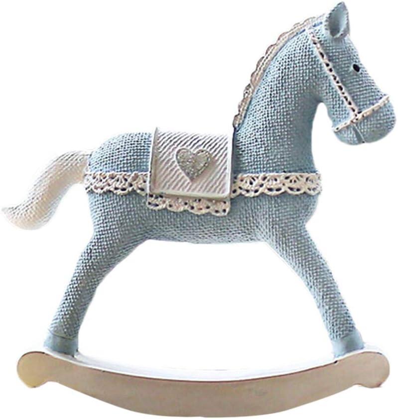 HEALLILY mecedoras decoración Estatuillas de la torta de caballos artesanías de decoración adornos para almacenar en casa habitación