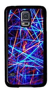 Samsung Galaxy S5 Case,Samsung Galaxy S5 Cases - Lines Color Graphics Custom Polycarbonate Hard Case For Samsung Galaxy S5 - Black