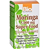 Bio Nutrition Moringa 5,000 mg Super Food - Energy - Mental Alertness - Immune Function - Digestion - Gluten Free - 60 Vegetable Capsules (Pack of 4)