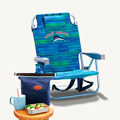 Tommy Bahama 2017 Beach Chair Bundle With Carry On Insulated Lunch Pouch ()