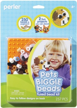 Bulk Buy: Perler Fun Fusion Biggie Fuse Bead Activity Kit Pets (Biggie Kit)