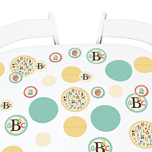 A is for Alphabet - Baby Shower or Birthday Party Giant Circle Confetti - Party Decorations - Large Confetti 27 Count