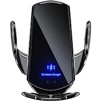 Cargador de Coche Inalámbrico, Soporte de Teléfono para Coche, Soporte Cargador 2 en 1, Sensor Infrarrojo, Sujeción…