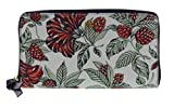 Tory Burch Kerrington Zip Around Continental Wallet Style No. 52159144 (Small Green Acre Floral)