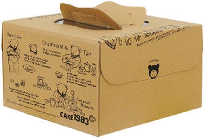 Zhi Jin 2pcs Oso asa Kraft Cajas de cartón cuadradas para Tartas Galletas panadería contenedor con Ventana Caja Set 26 x 26 cm: Amazon.es: Hogar